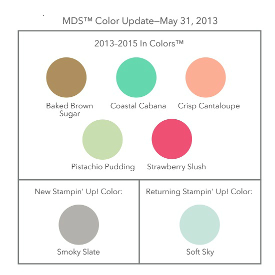 Stampin' Up! My Digital Studio Color Update