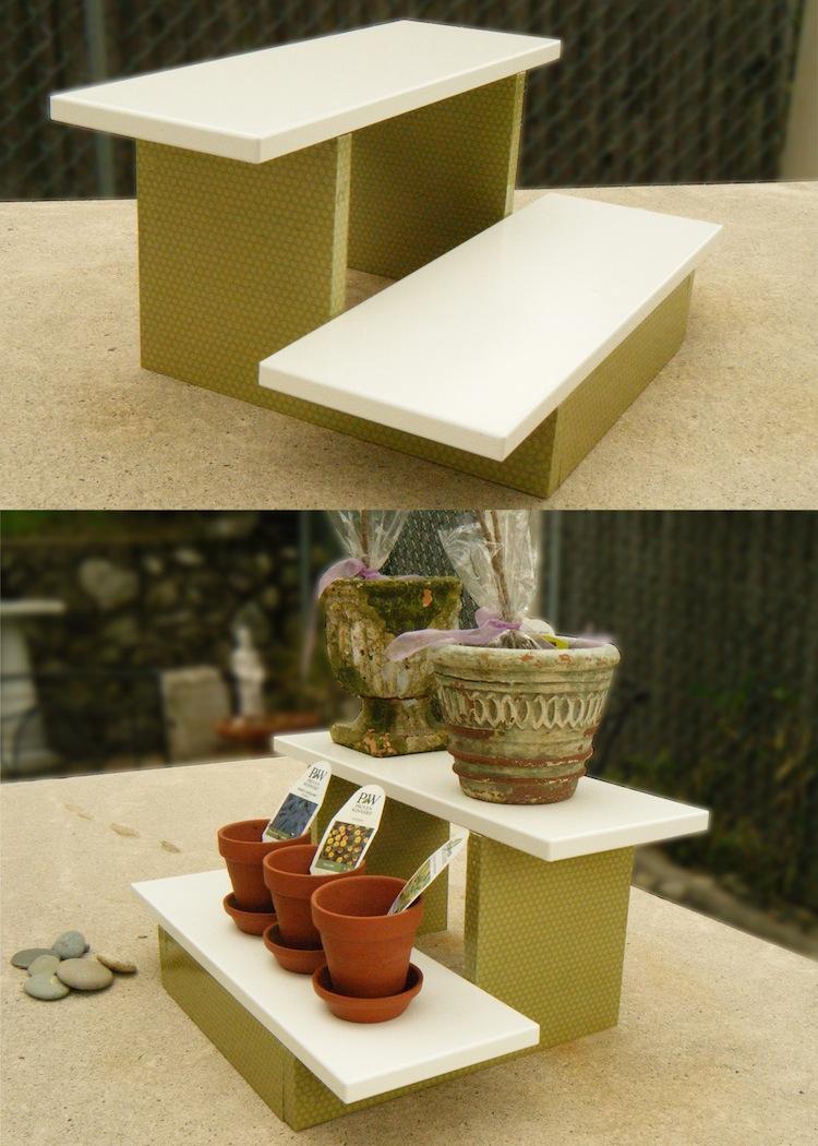 diy mini plant stand mod podge rocks. Black Bedroom Furniture Sets. Home Design Ideas