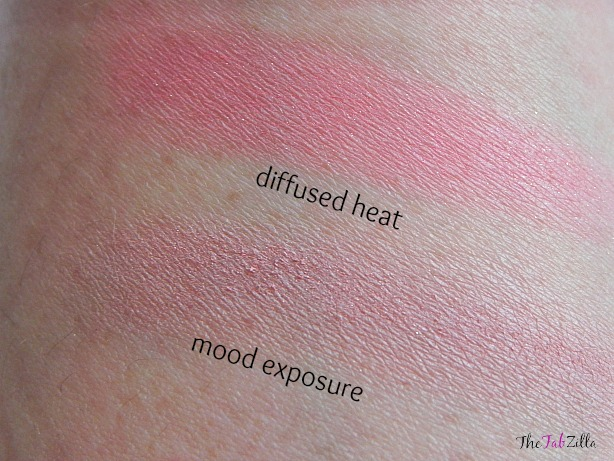 hourglass ambient lighting blush, swatch, review mood exposure, diffused heat