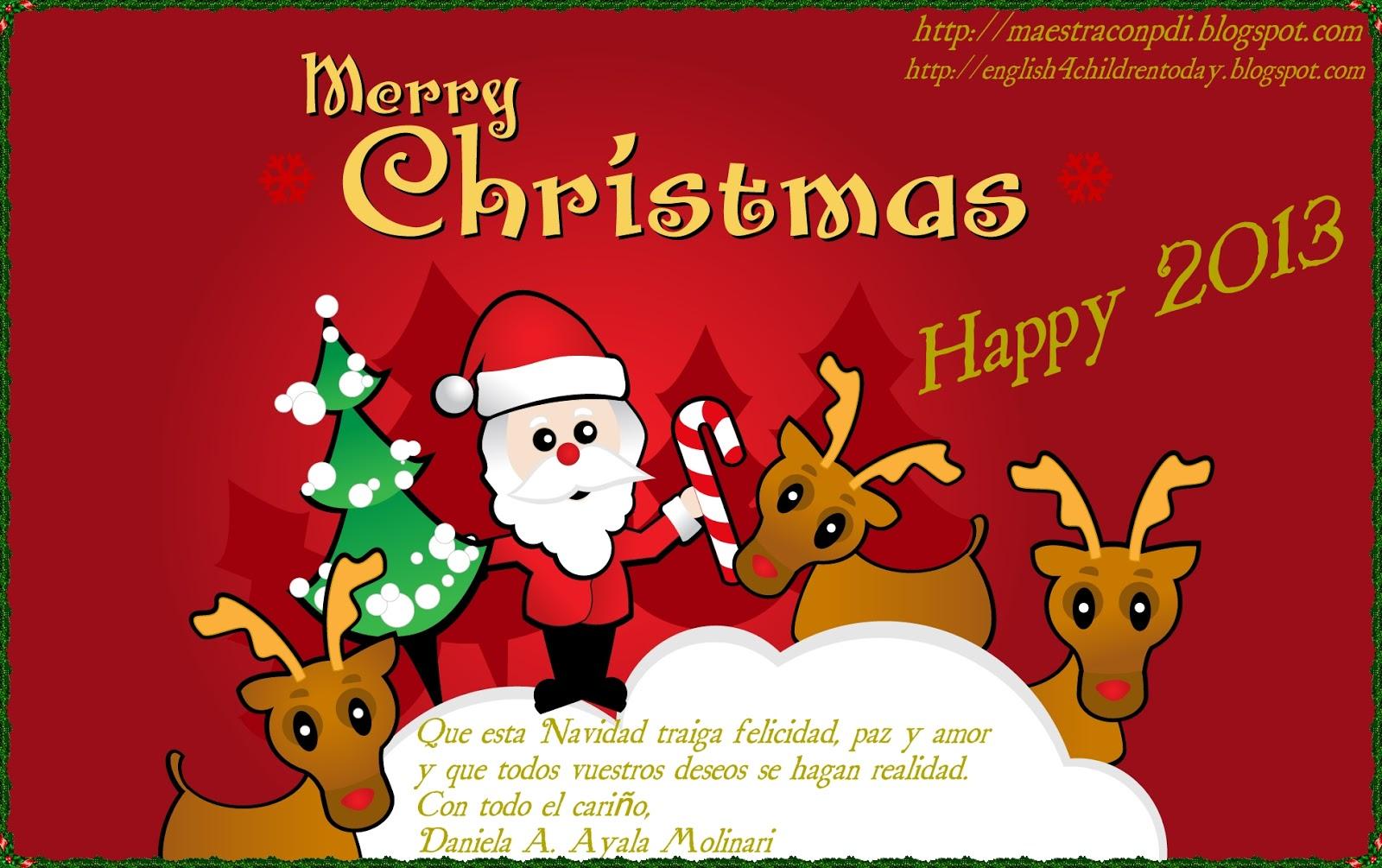 La clase de daniela online feliz navidad mis queridos for Navidad on line