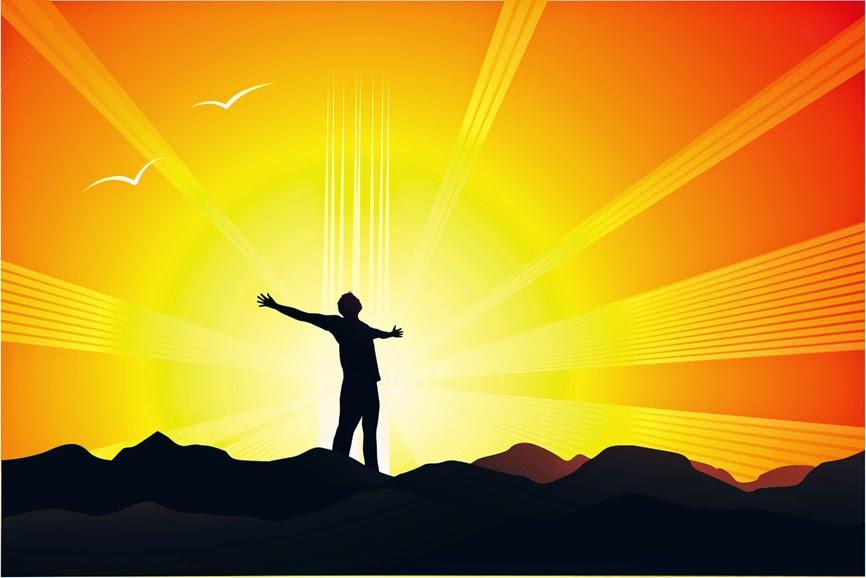 imagen con fondo negro y naranja levantando las manos.