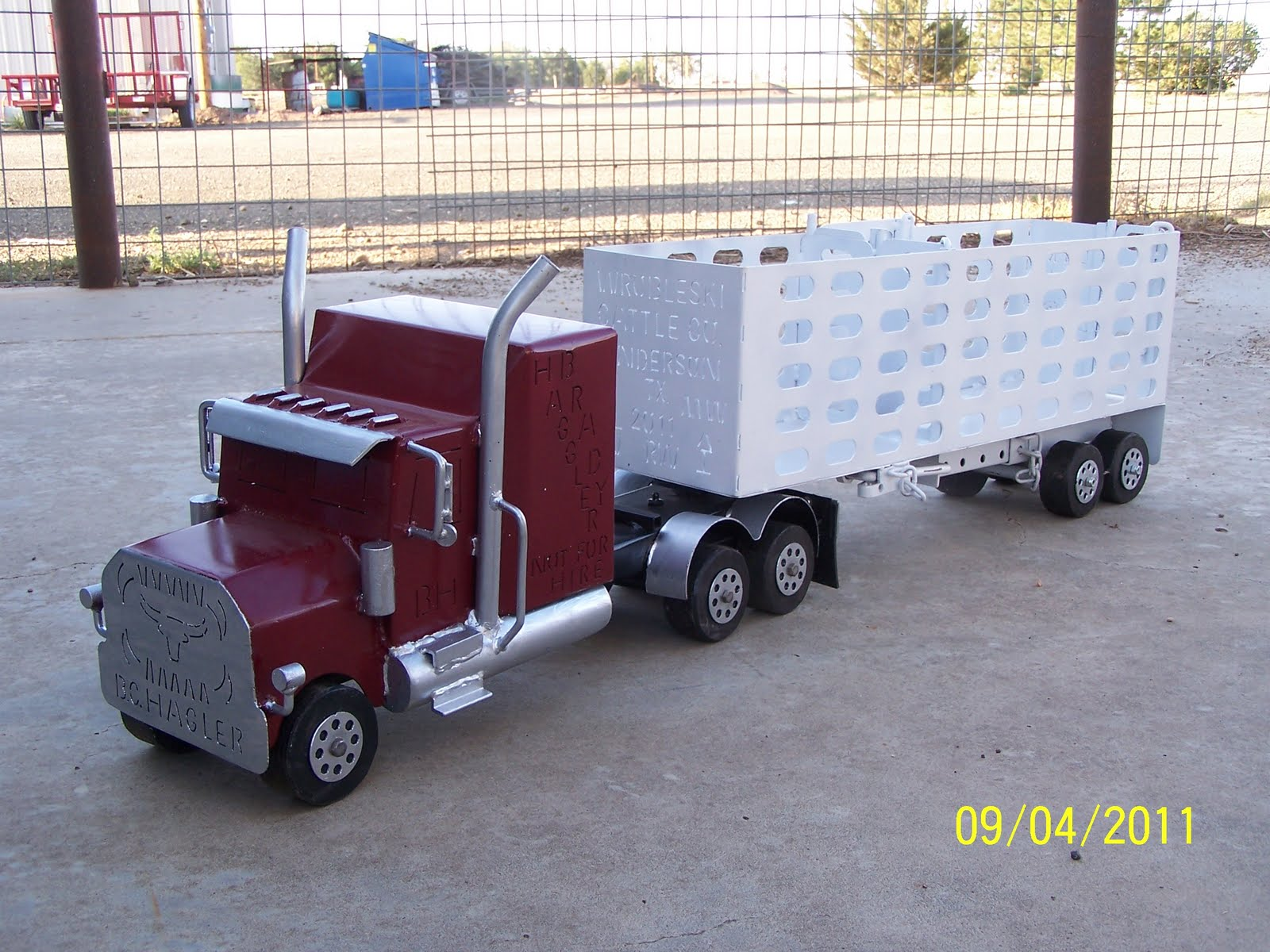 Toy Semi Trucks And Trailers : The happy toy maker semi truck with trailer