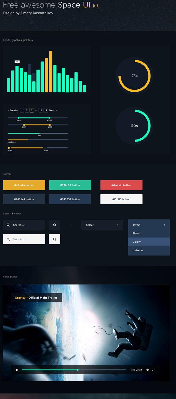 Space UI Kit PSD