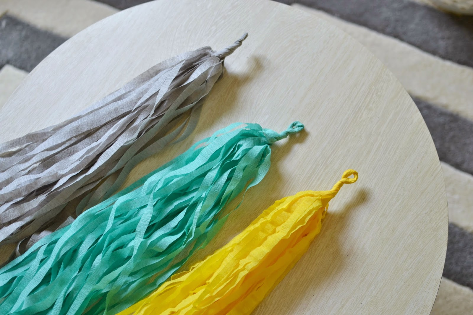 Mommy Testers, crepe paper tassels