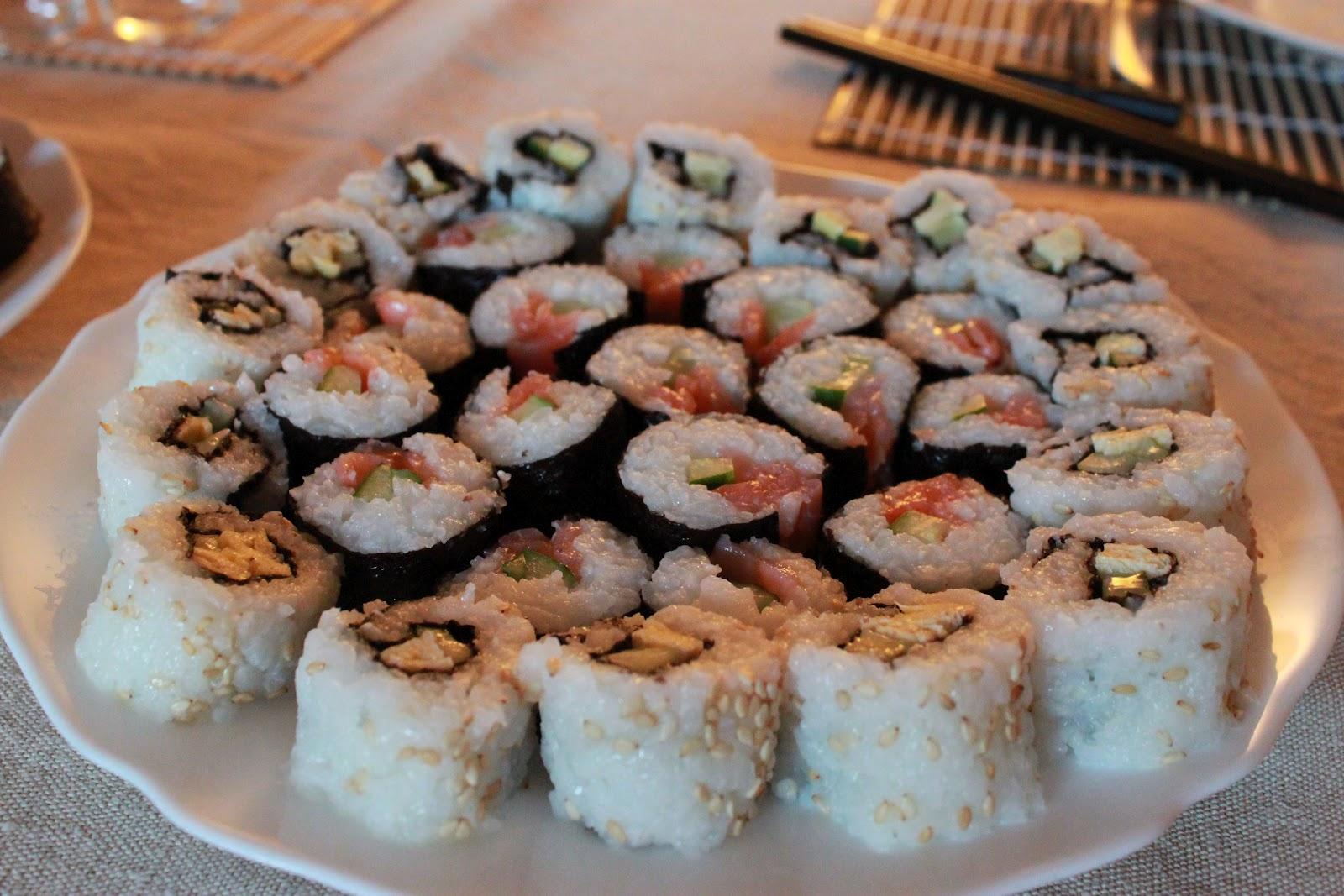Ingredienti per il sushi fatto in casa: