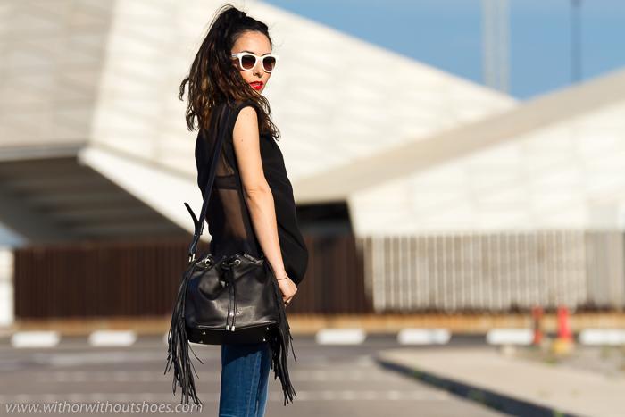 Blogger de Valencia con bolso de Tous