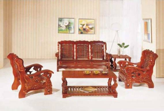 Solid wood sofa design an interior design for Wooden living room furniture