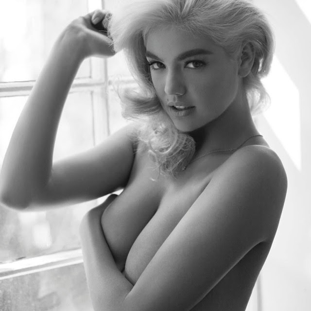 Kate Upton una vez más se saca la ropa y hace un topless