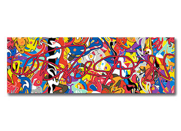 abstract, graffiti, urban art, modern, contemporary, street art, wall art, canvas art, panoramic,