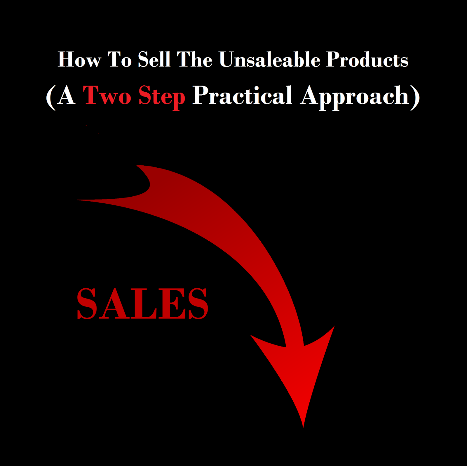 how to sell the unsaleable products/services