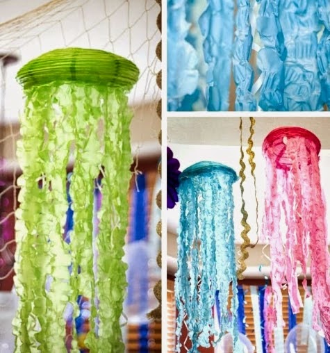 "My Own Party Ideas: DIY ""Jellyfish"" Paper Lanterns"