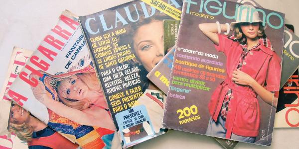 revistas de moda antiga - anos 70 - Claudia, A Cigarra, Desfile e Figurino