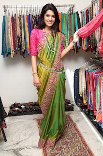 Ritu Biradar Spicy Cute Indian Model in Saree at Saree Expo Launch Event