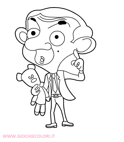 Mr bean coloring pages