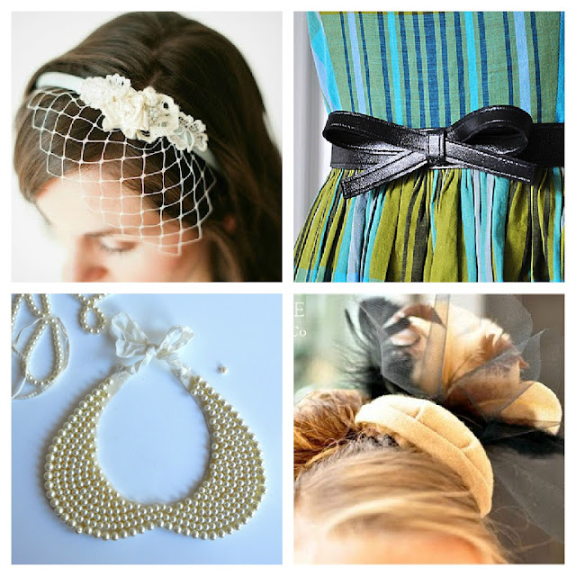 retro 1950s DIY accessories tutorial belt headband beaded collar birdcage Just Peachy, Darling