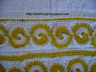 havlu dantelleri,havlu kenarı dantel örneği