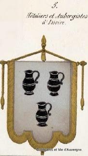 Armoiries des aubergistes d'issoire, Puy-de-Dôme