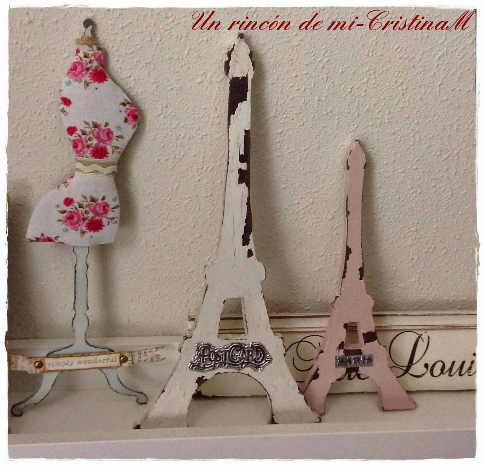Un rinc n de mi figuras torre eiffel rom nticas for Cuartos decorados de la torre eiffel