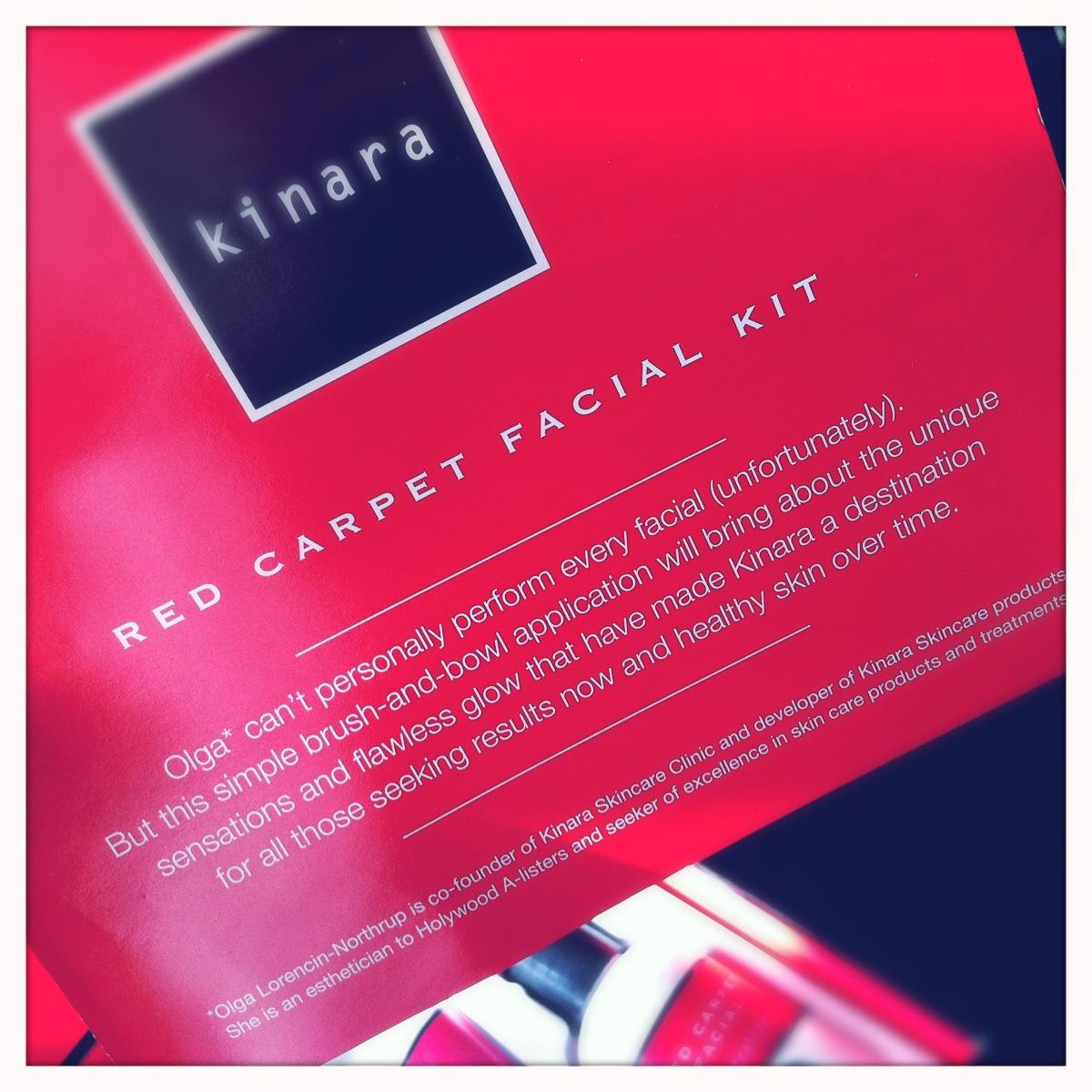 kinara red carpet facial kit instructions