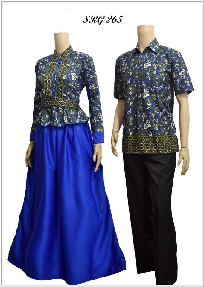 Model baju batik gamis srg 265 Foto baju gamis batik 2015