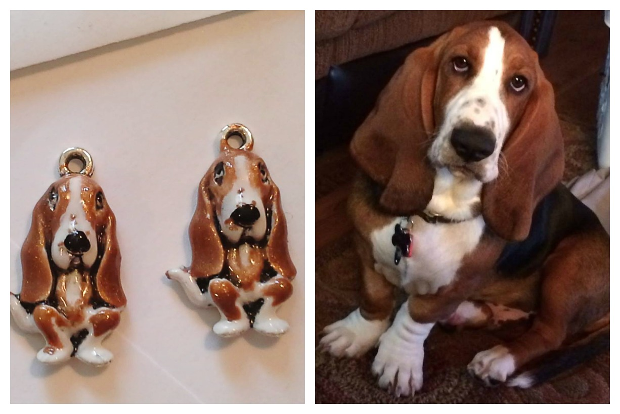 Painted Basset Charms