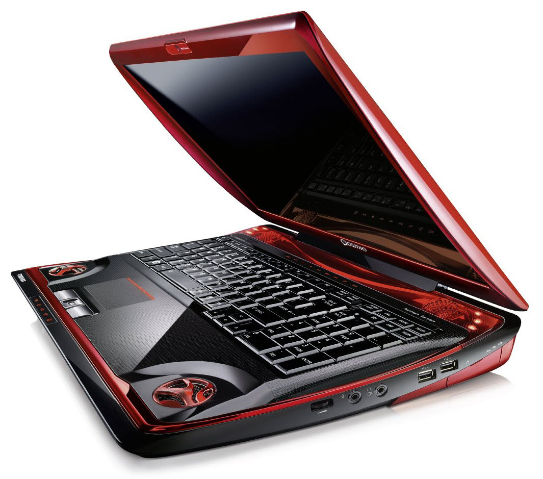 Dell Wallpaer: Red LapTop