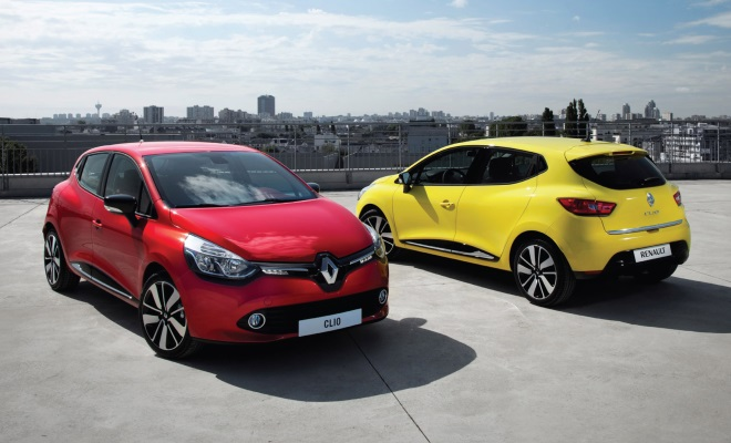 Renault Clio 2013 front and rear views