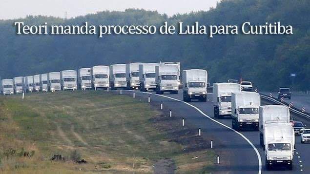 PROCESSOS DE LULA A CAMINHO DE CURITIBA