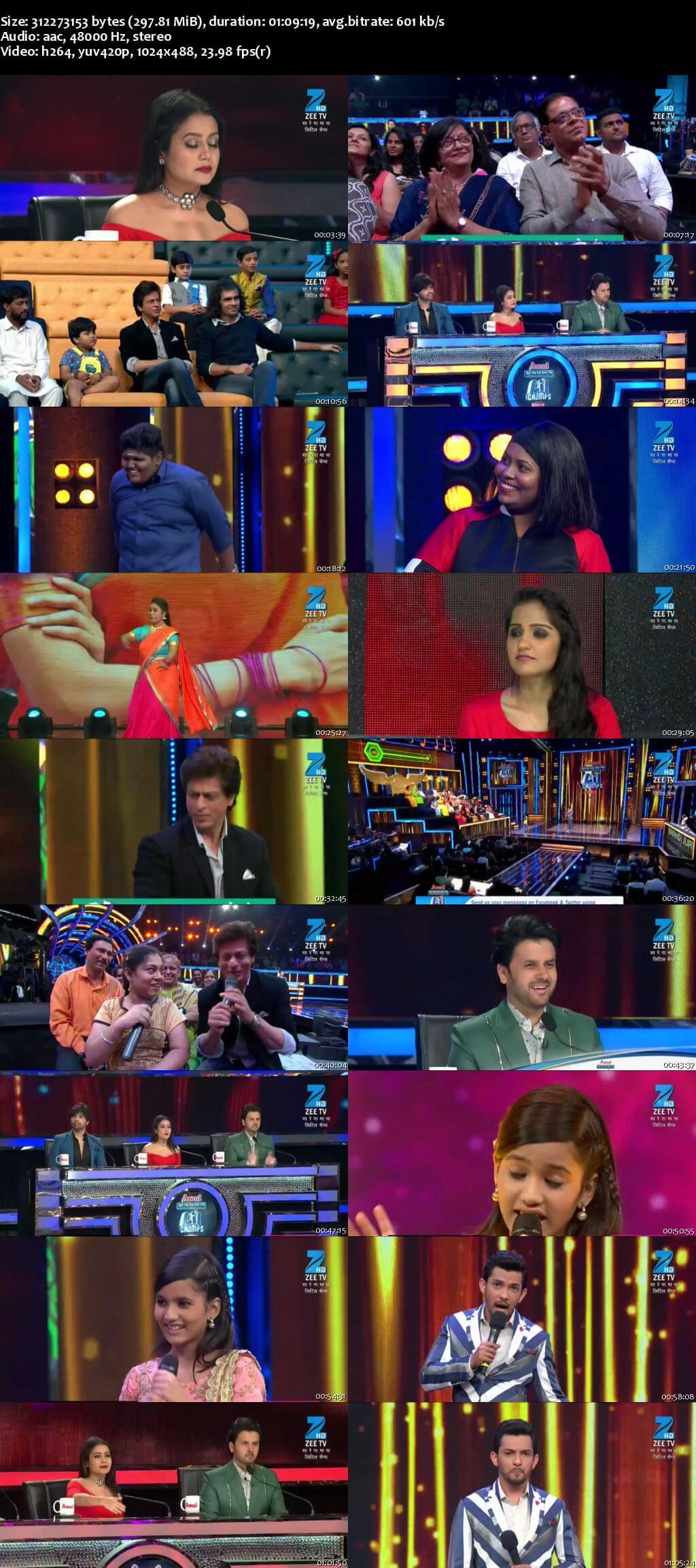 Screenshots Of Hindi Show Sa Re Ga Ma Pa Lil Champs Season 6 6th August 2017 Episode 47 300MB 480P HD