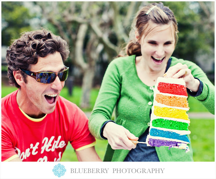 San Francisco Baby Photography session rainbow birthday at park