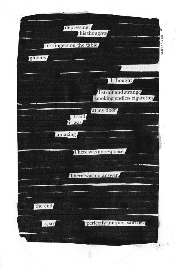 aliciasivert, alicia sivertsson, blackout poem, dikt