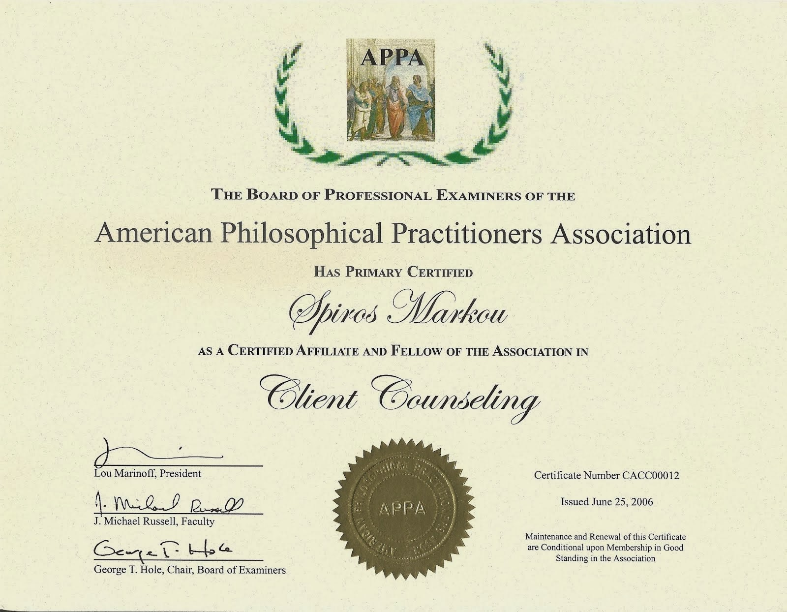 American Philosophical Practitioners Association