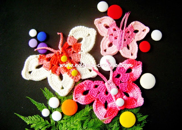 dvd loja frete gratis curso video-aulas borboletas croche suprema mini mariposas duna aprender croche com edinir-croche facebook youtube