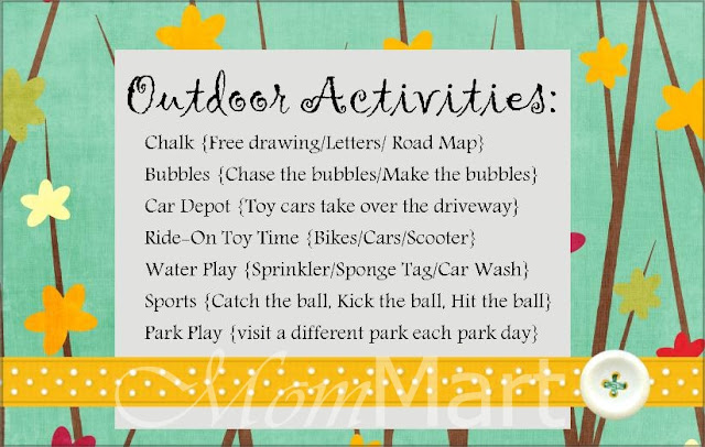 Mom Mart Outdoor Activities