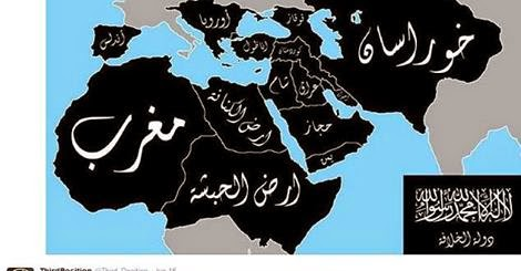Islamic Caliphate Map it is a Map of The Caliphate