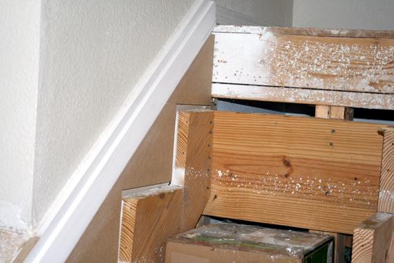 Remodelaholic Filling the Gaps Stair Remodel