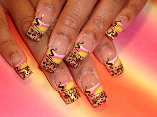 nail design   nail art 2011   diseño de uñas   animal print nail art