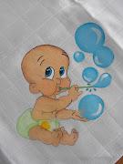 Pintura em Fralda Menino Bolhas. Publicada por LiliSteph manas à(s) 16:04