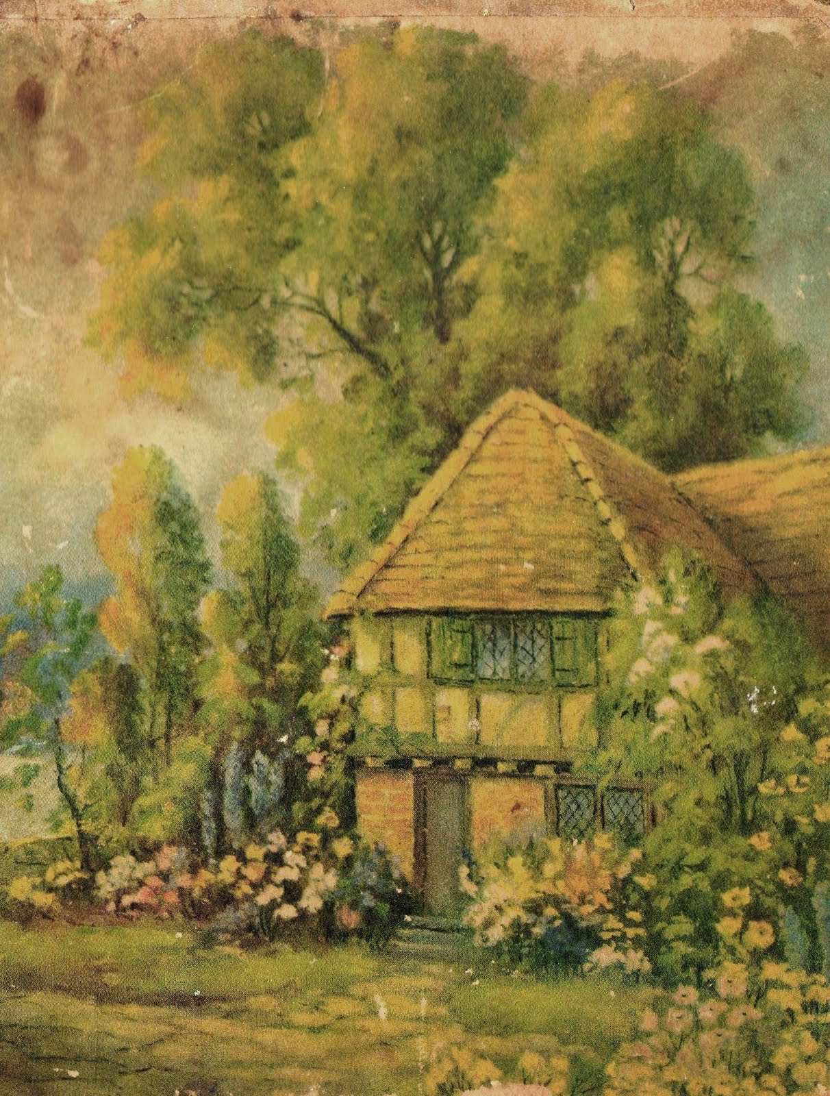 My Country Heaven Cottage I Love Love Love Vintage Prints