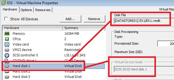 Identificación con VSphere Client