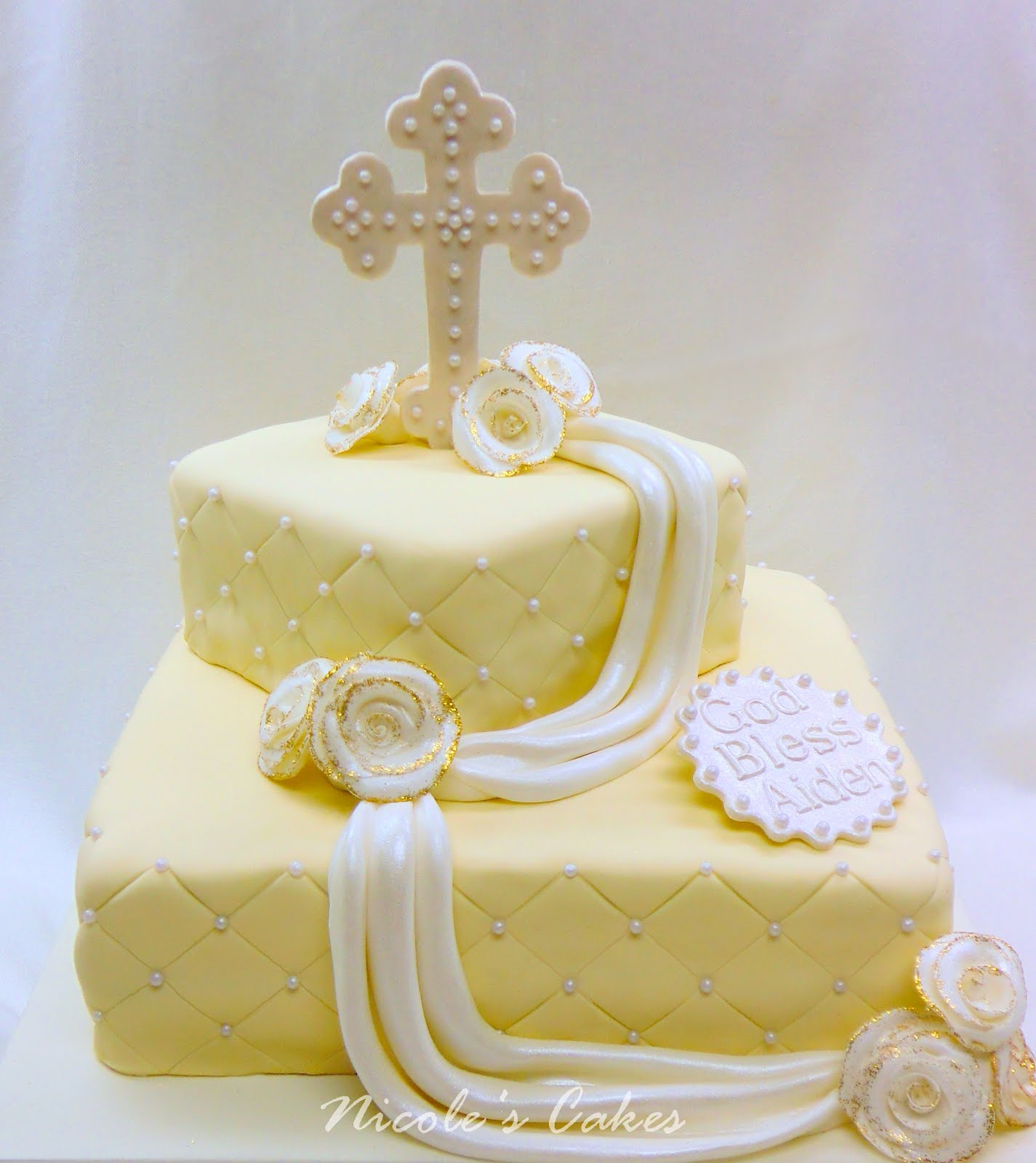 Confections, Cakes & Creations!: Ivory & Pearl Christening ...