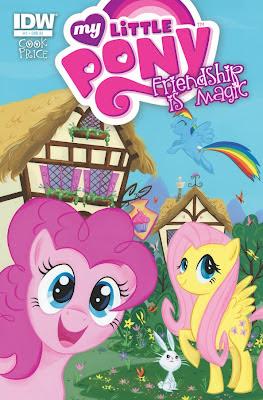 Capa variante contendo Pinkie Pie, Fluttershy Rainbow Dash e Angel (o coelho da Fluttershy)