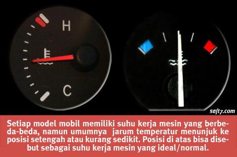 Apabila jarum temperatur menunjukkan suhu yang lebih rendah misalnya