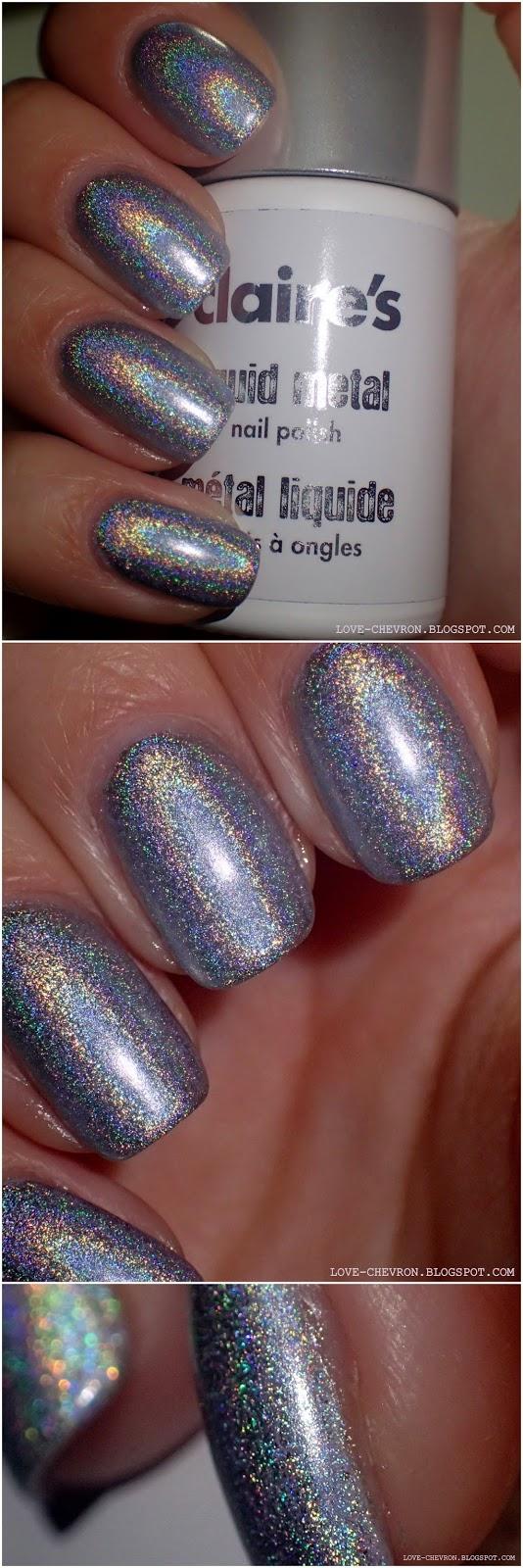 claire's silver liquid metal