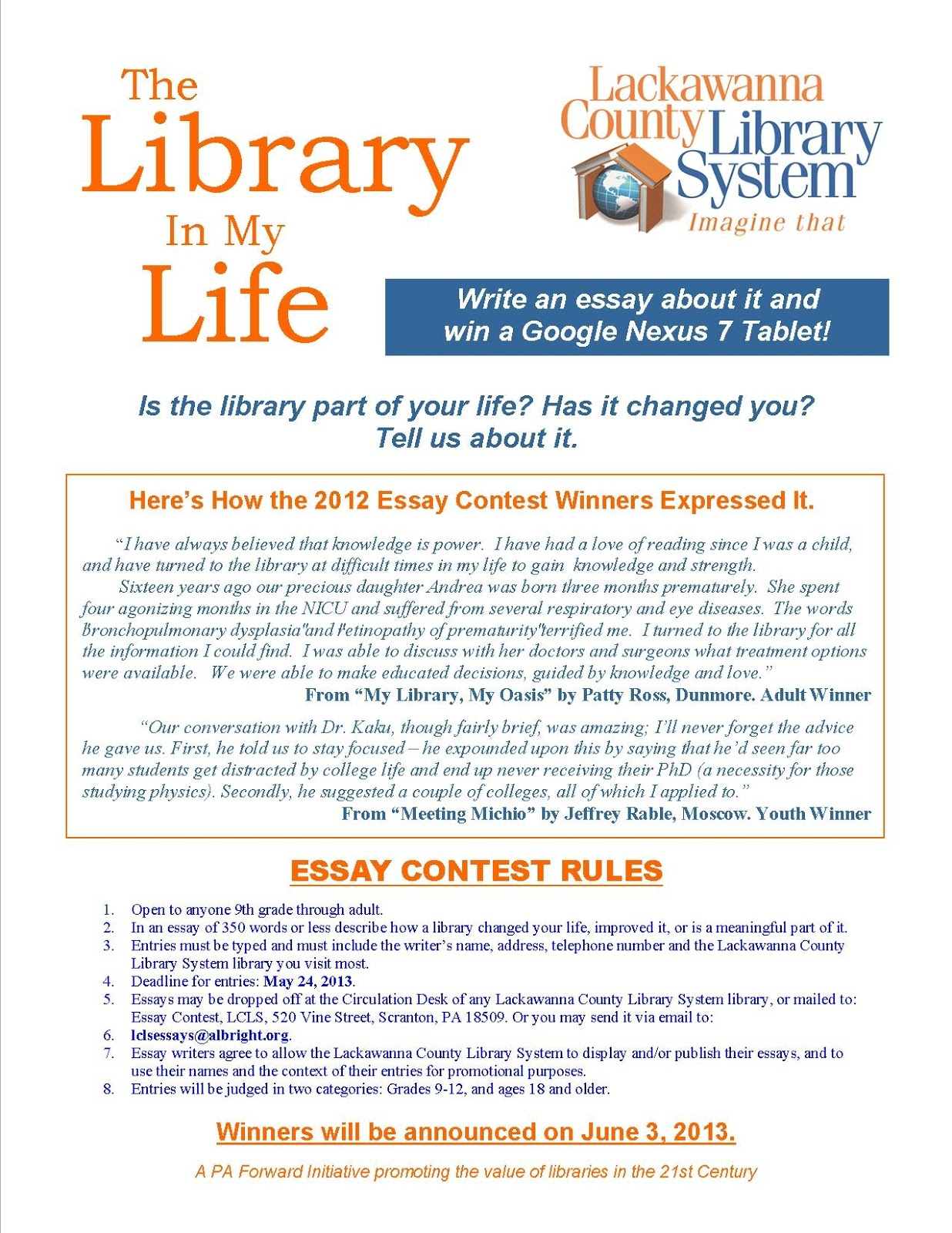 Essay writing on library