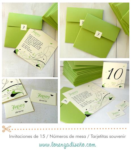 lorenza diseño tarjetas 15 años