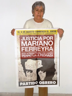 ELVA GRATÁS ABOT, ESCRITORA Y PERIODISTA, TAMBIÉN PIDE JUSTICIA POR MARIANO