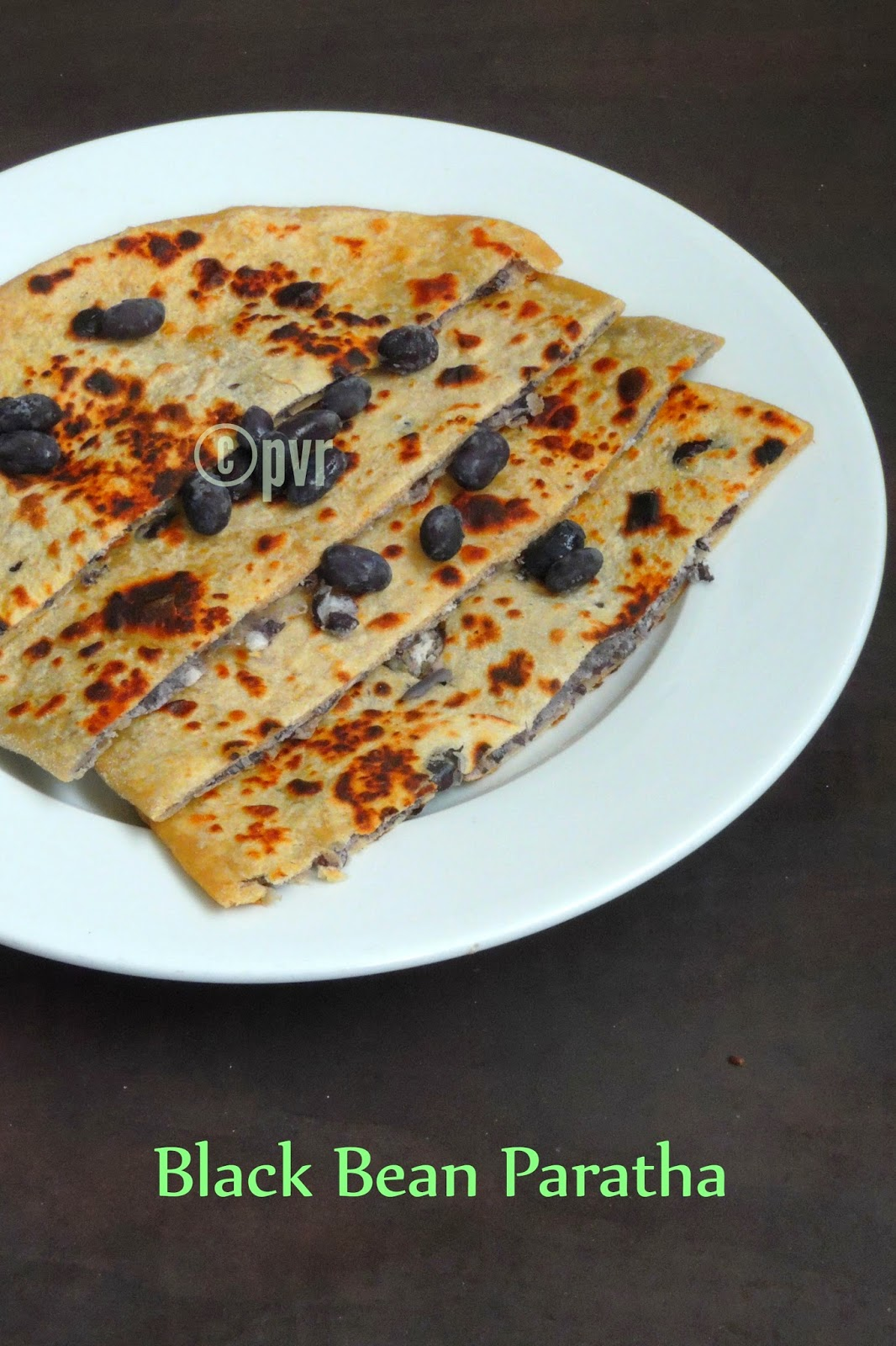 Black bean stuffed Paratha