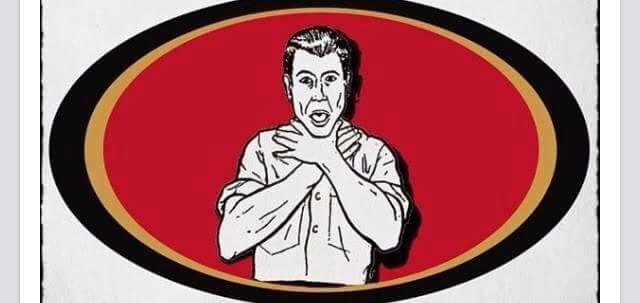 logo. choke. 49ers