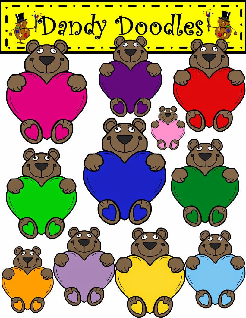 http://www.teacherspayteachers.com/Product/Sweetheart-Bears-Clip-Art-by-Dandy-Doodles-1655565
